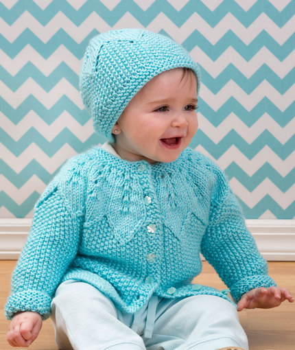 Over 10 Lovely Free Lace Cardigan Baby Knitting Patterns