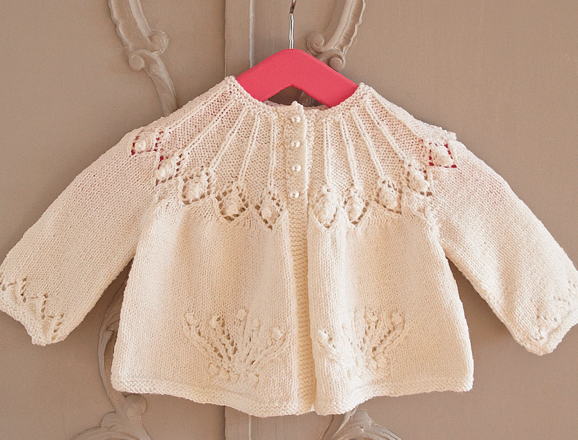 Over 10 Lovely Free Lace Cardigan Baby Knitting Patterns - Free Baby ...