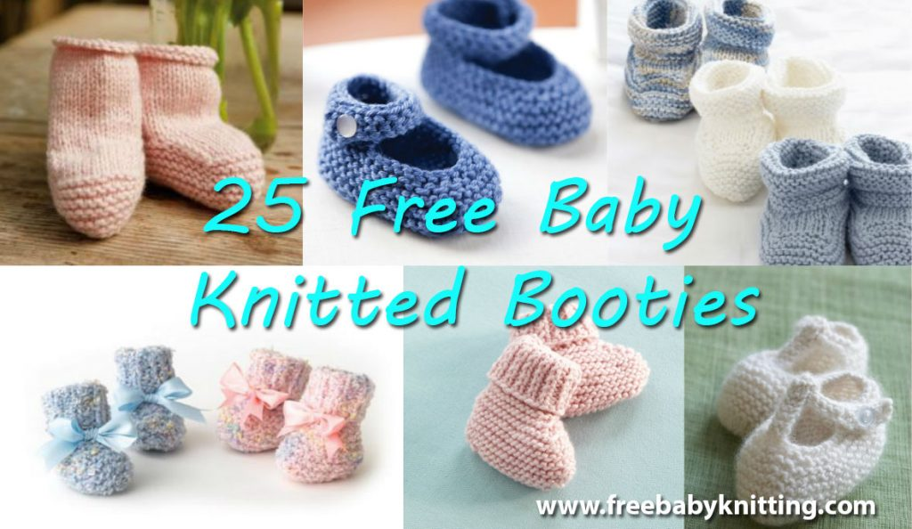 25 Free Baby Knitted Booties http://www.freebabyknitting.com/