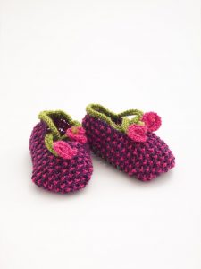 blossom flower baby booties pattern to knit