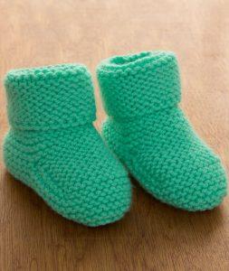 free garter stitch baby bootee