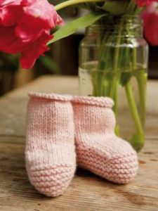 Free Baby Knitted Booties