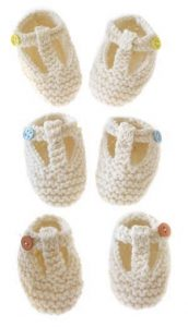 free baby booties patterns to knit
