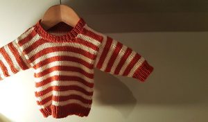 Baby Simple Stripe Sweater free baby knitting patterns
