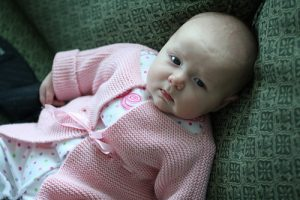 Garter Stitch Matinee Baby Knit