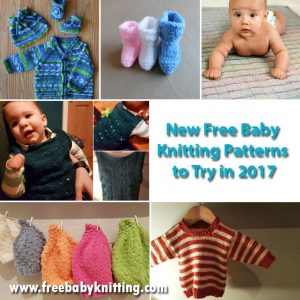 New Free Baby Knitting Patterns to Try in 2017