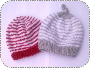 4ply striped baby hat pattern