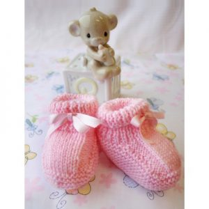 free easy baby booties pattern