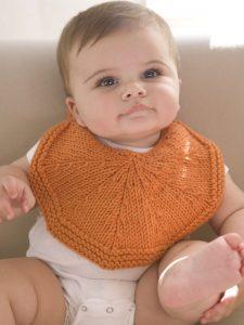 free baby bib knit pattern