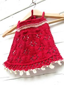 lace bib baby knit pattern