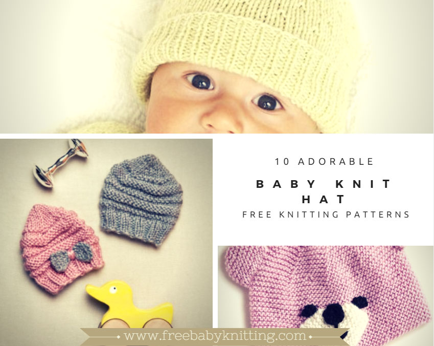 10 Adorable Baby Knit Hat Patterns for 2017