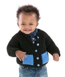 Cute & Classic Baby Cardigan Free Knitting Pattern