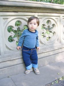 Blu Jeans Baby Pants Free Knitting Pattern