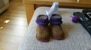 Bootees knit pattern video tutorial