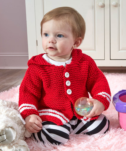 Buttoned Up Cardi Free Baby Knitting Pattern