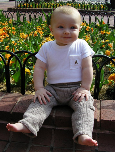 Cargo Pants Free Baby Knitting Pattern