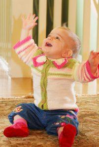 Cecilia Baby Cardigan Free Knitting Pattern