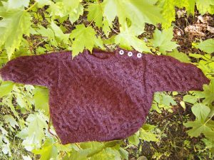 Chaos Cable Baby Sweater Free Knitting Pattern