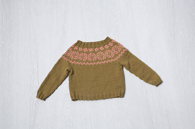 Colorwork Yoke Baby Pullover