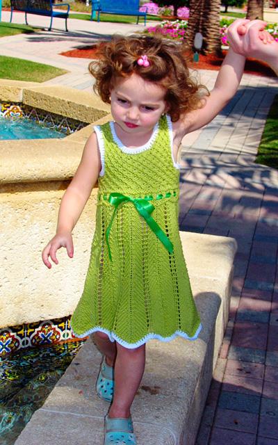 Elenka Toddler Dress Free Knitting Pattern