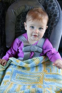 Evelyn's No-Sew Blanket Free Knitting Pattern