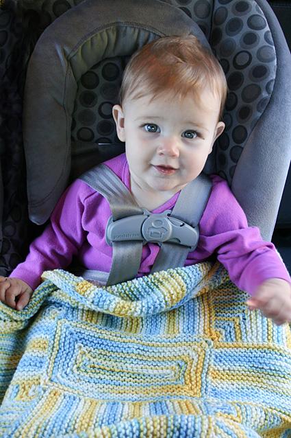 Evelyns No Sew Blanket Free Knitting Pattern Free Baby Knitting