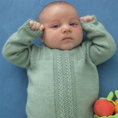Fiddlehead Pullover Free Baby Knitting Pattern