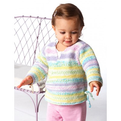 Child s Kimono Knitting Pattern : Garter Stitch Kimono Free Knitting Pattern - Free Baby Knitting
