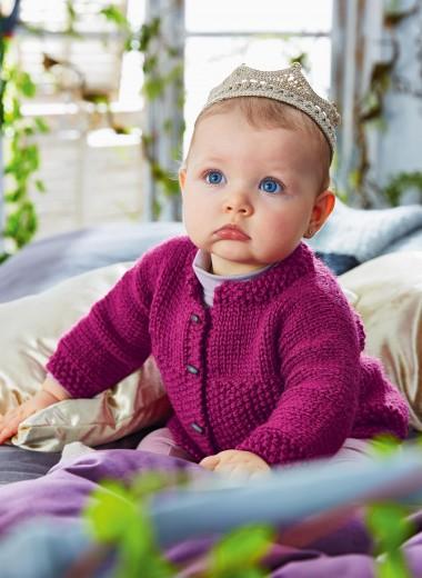 Girl's cardigan free baby knitting pattern