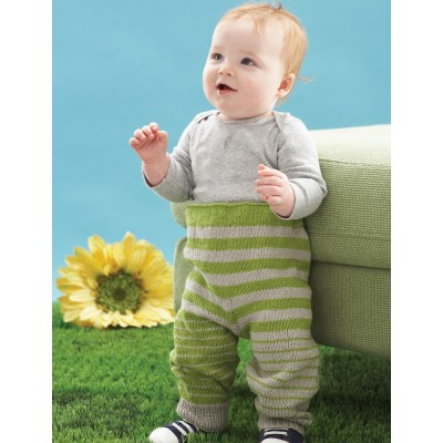 Go Stripes Baby Pant Free Knitting Pattern