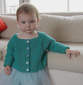 Haiku Free Baby Cardigan Knit Pattern
