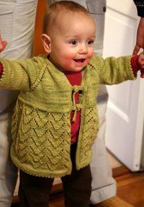 Helena Free Lace Baby Cardigan Knitting Pattern