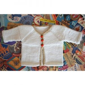Hello Baby Cardigan Free Knitting Pattern