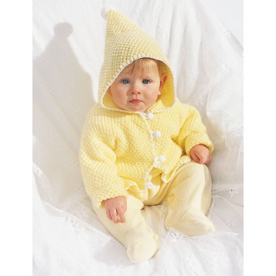 Hooded Baby Jacket Free Knitting Pattern