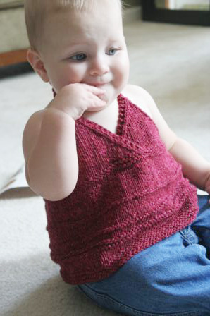 Katja Baby Summer Top Free Knitting Pattern Free Baby Knitting