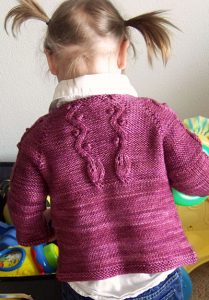 Kindling Baby Cardigan Free Knitting Pattern