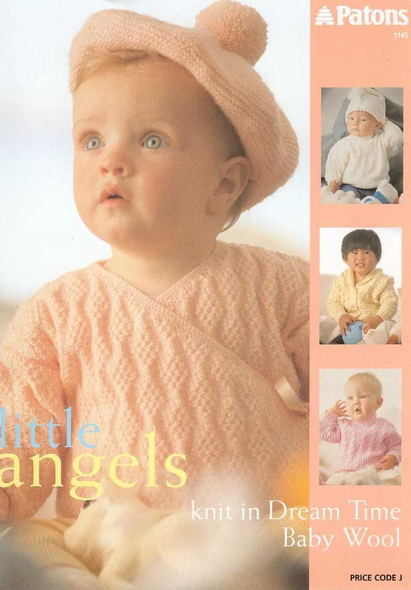 Patons Little Angels Baby Cardigan Free Knit Pattern Booklet