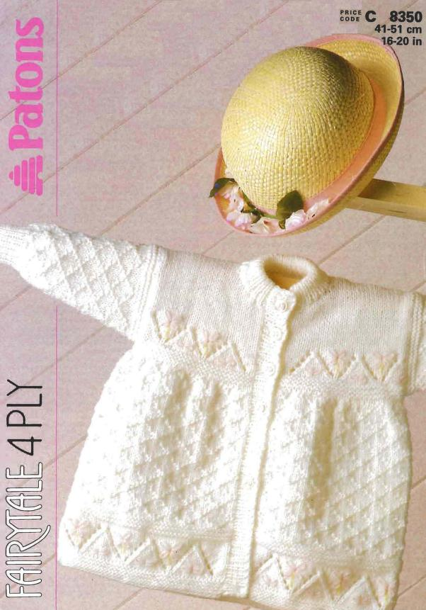 Matinee Lace baby Jacket Knitting Pattern
