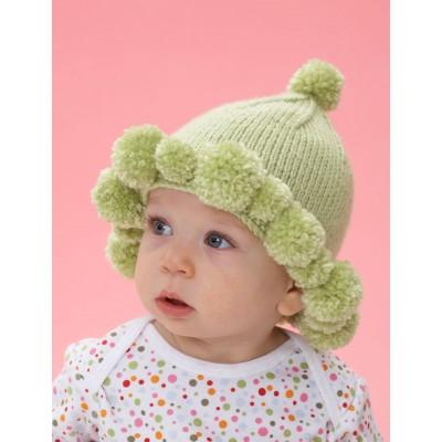 Pompom Baby Hat Free Knit Pattern
