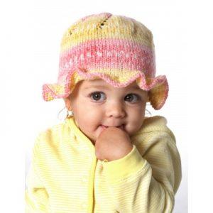 Ruffle Hat Free Baby Knit Pattern