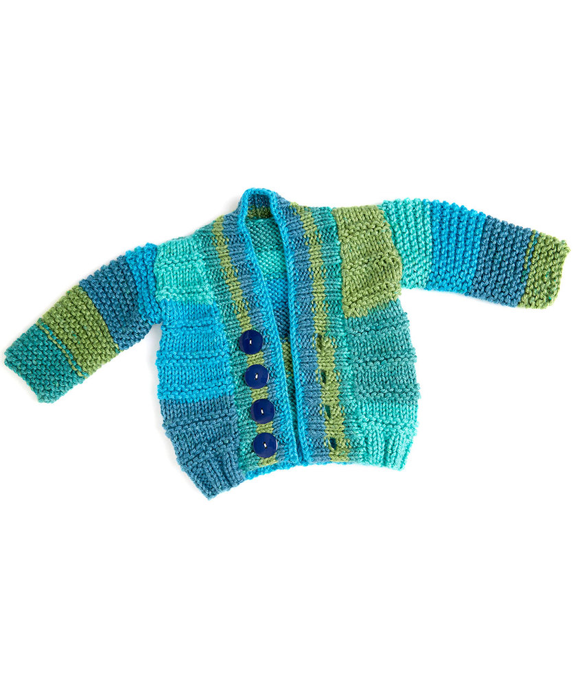 Soft Essentials Knit Baby Cardigan Free Pattern