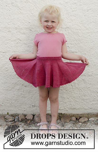 Sweet Curtsy Skirt Knit Pattern for Toddlers and Kids