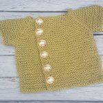 Vintage Vanilla free gater stitch baby top knitting pattern 1