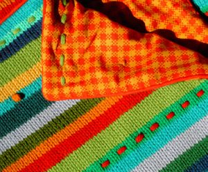 Wild Stripes Baby Blanket Free Knitting Pattern
