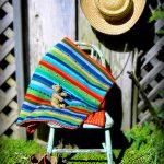 Wild Stripes Baby Blanket Free Knitting Pattern