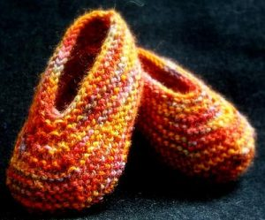 Baby Slippers Free Knitting Pattern