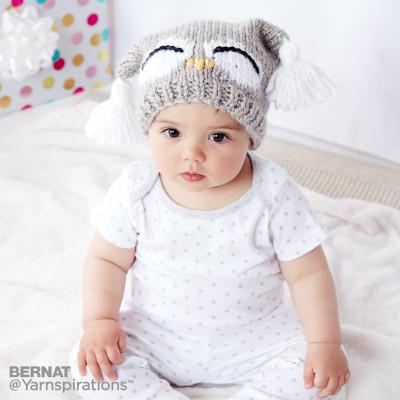 Bernat I'm a Hoot! Knit Hat