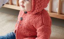 Bernat In The Details Knit Hoodie Free Baby Pattern