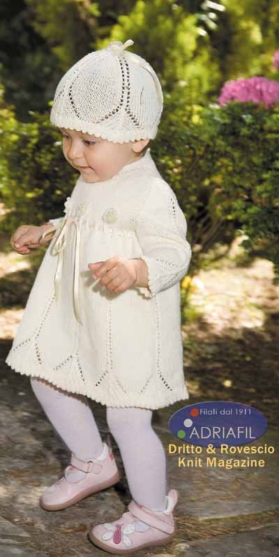 baby dress pattern to knit for baby