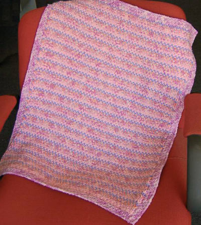 Easy Slip Stitch Baby Blanket Knitting Pattern Free Free Baby Knitting